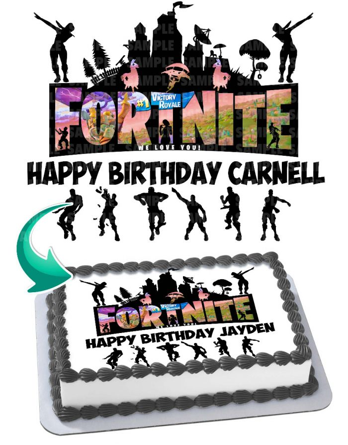 Fortnite Battle Royale Edible Image Cake Topper Personalized Birthday Sheet Decoration Custom Party Frosting Transfer Fondant With the fortnite's 1st anniversary, epic games has released a set of temporary challenges that you can complete for a back bling, spray, and emoticon. fortnite battle royale edible image cake topper personalized birthday sheet decoration custom party frosting transfer fondant