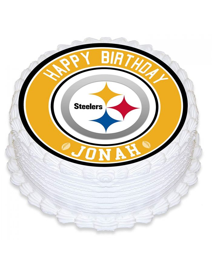 Football Cake Topper Pittsburgh Steelers Party Pittsburgh Steelers Birthday Football Party Supplies Pittsburgh Steelers Cake Topper