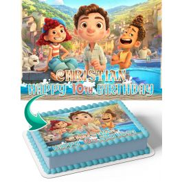 Luca Movie LM Edible Image Cake Topper Personalized Birthday Sheet Decoration Custom Party Frosting Transfer Fondant